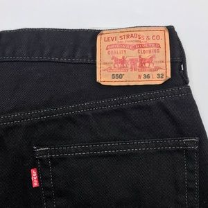 Levi's Relaxed Fit 550 36x32 men's black jeans
